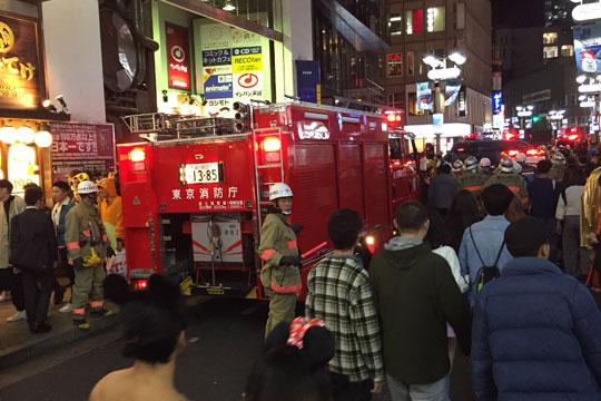 渋谷ハロウィン 火災