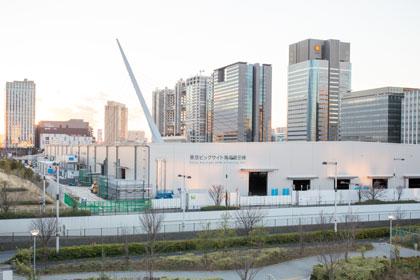 東京ビッグサイト 青海展示場 建設中