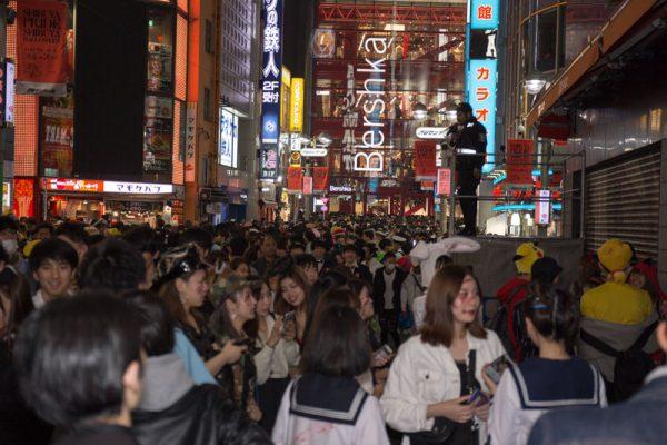 渋谷ハロウィン センター街 カラオケ館